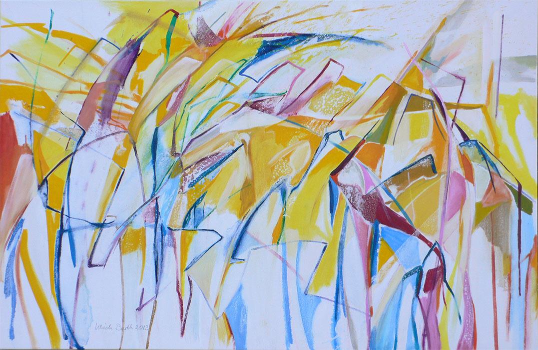 Blau ist leichtfüßig und Gelb korpulent 12. 12. 2013 85 x 130 cm